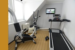 Fitnessraum im Apartmenthotel Rüther in Papenburg
